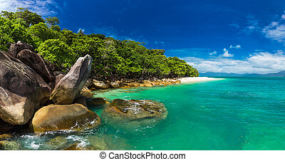 Nudey Beach on Fitzroy Island, Cairns area, Queensland,...