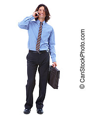 Calling - Photo of smart businessman calling somebody over...