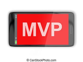 MVP - business concept - 3D illustration of 'MVP' title on...