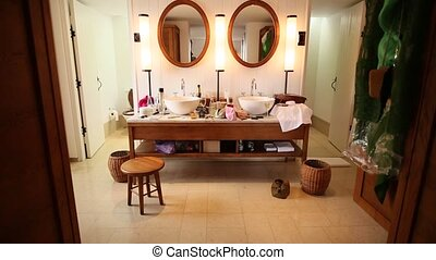 The interior of the bathroom. Interior Design. Bathroom in the a