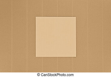 brown old paper background with blank small paper note