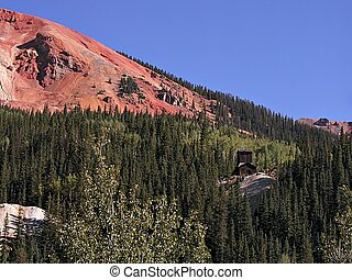Abandoned Mine at Red Mountain Pass Summit - An abandoned...