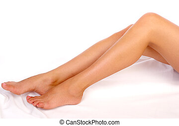 woman legs - Beautiful woman legs. Isolated over white...