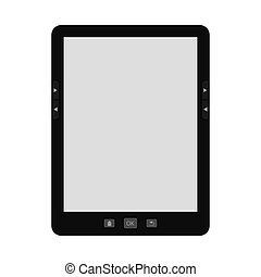 portable modern tablet  e-book reader