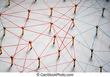 Linking entities. Network, networking, social media,...