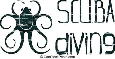 Design logo scuba diving