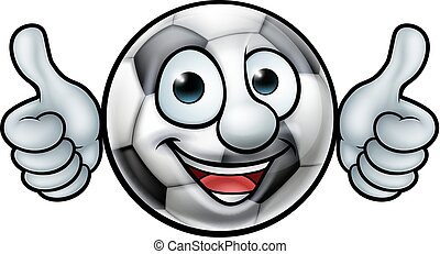 Soccer Football Ball Mascot - A soccer football ball cartoon...