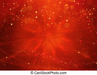 elegant red festive background with stars