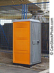 Construction site toilet - Portable toilet cabin at...