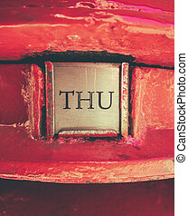 British Post Box Detail - Retro Style Detail Of The...