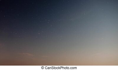 Stars movement over sea - Stars movement time lapse over...