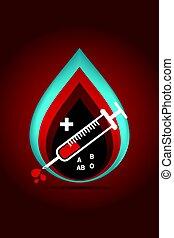 logotype blood donation - paper art carving logotype blood...