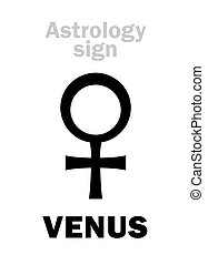 Astrology: planet VENUS (female)