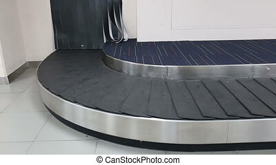 conveyor belt baggage for passenger in the airport
