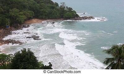 Tropical ocean beach from Laem Sing and Kamala beach...