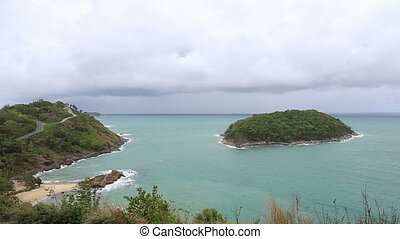 Wind and wave in andaman sea at Laem Promthep Cape Viewpoint...