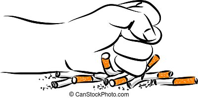 quitting smoking vector illustration