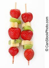 skewer fruit - isolated skewer fruit
