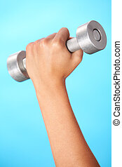 Barbell in hand