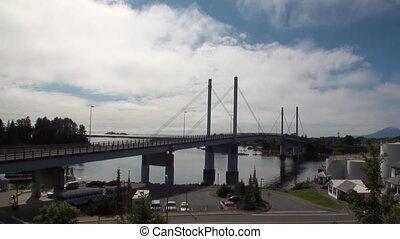 Road bridge over the Pacific Ocean in Sitka.