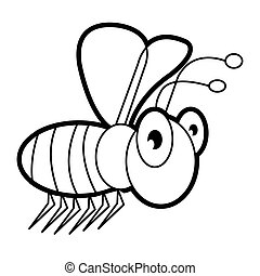 the bee cartoon  bug  life coloring page for toddle