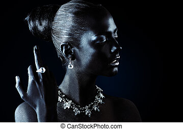 chic life accessories - Fashion jewellery concept. Portrait...