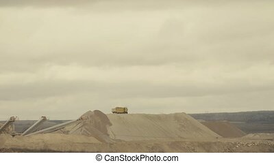 Truck working in a quarry