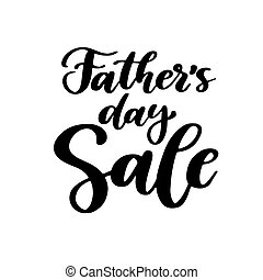 Father's Day Sale vector card with handwritten lettering....