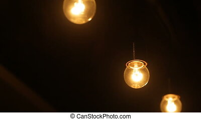 Included lights in a dark room.