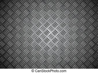 Abstract stainless steel floor plate background