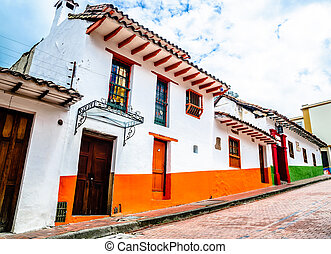 Colorful colonial building in Bogota - Colombia