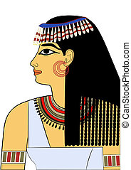 Woman of Ancient Egypt - vector