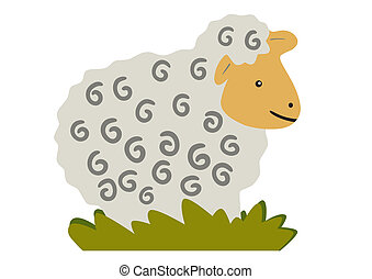 Paschal lamb - vector - Illustration of the Paschal Lamb -...