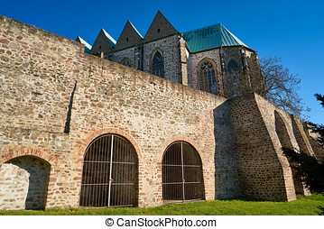 Petri church in Magdeburg - Petri church in the old town of...