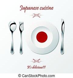 Japanese cuisine cutlery