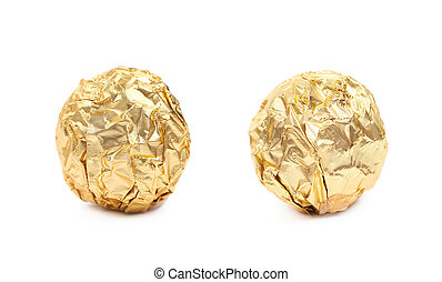 Stock Photography of chocolates in a gold wrapper - chocolates in ...