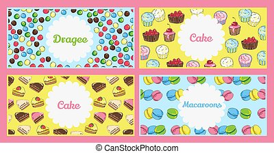 Set of flyer templates with text. Banners on the theme of food a