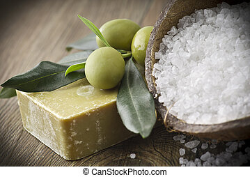 Soap and natural ingredients