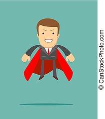 superhero businessman the concept of success. - superhero...