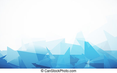 White background with blue polygonal pattern - Abstract...