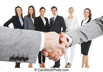 握手, ビジネス, 人々