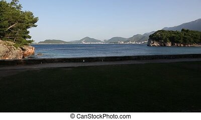 Budva Riviera in Montenegro. Sea coast mountains - Budva...