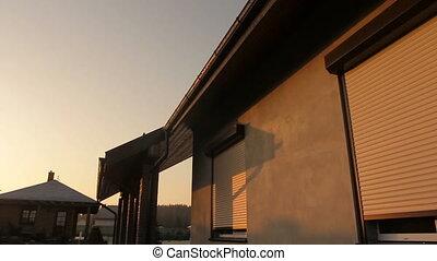 Rolling Shutter Window - Rolling shutter window opening in...