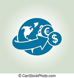 Money remittance and investment concept.