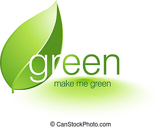 Vector illustration - Be Green Illustration, Vector file...