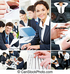 Set of business people - Set of image with business people...