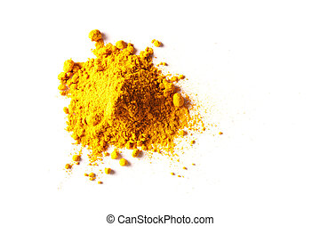 Pile of Turmeric Powder - Pile of Turmeric powder isolated...