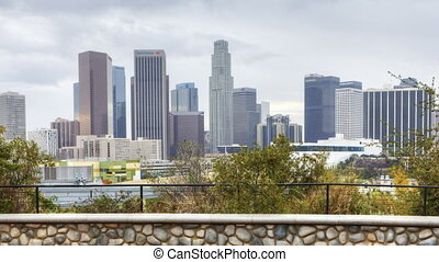 Timelapse of the Los Angeles skyline - A Timelapse of the...