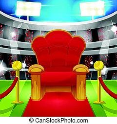 Theater  Luxury Chair Sport Stadium Vector
