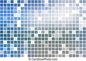 White blue shades occasional opacity mosaic over white -...